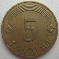 Латвия 5 сантимов 2007 г.