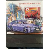 Сьерра Леоне 2019. 30 годовщина марки Лексус. Блок