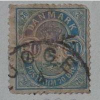 Геральдические животные. Дания.   1902 !!!