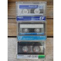 3 кассеты Sony б/у, с записями