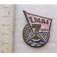 Значок 1 Мая 1960 год  ГДР