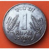 02-17 Индия, 1 рупия 2000 г. Кремница