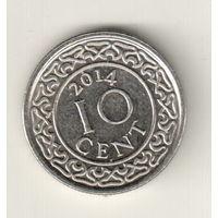 Суринам 10 цент 2014