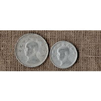Набор из 2 монет - Тайвань  / 1, 2 цзяо/джао 1955 1950   / цена за 2 монеты //MY/