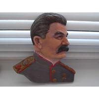 Сталин барильеф, в ручной росписи
