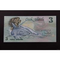 Острова Кука 3 доллара 1987 UNC