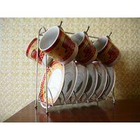 Кофейный набор сервиз на подставке