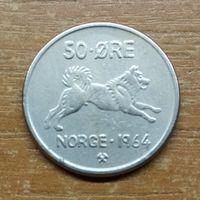 Норвегия 50 эре 1964 _РАСПРОДАЖА КОЛЛЕКЦИИ