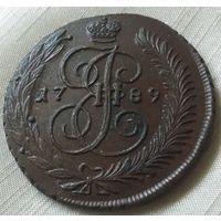 5 копеек 1789 года. АМ. Без следов обращения.