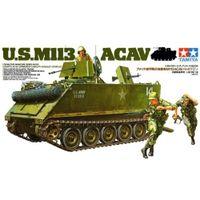 Американский БМП-амфибия М113 (с 3 фигурами), сборная модель танка 1/35 TAMIYA 35135