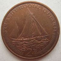 Остров Мэн 2 пенса 2002 г. Корабль