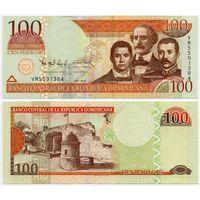 Доминиканская республика. 100 песо (образца 2010 года, P177c, UNC)