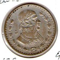 Мексика песо 1960 года серебро 0.100