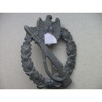 Нагрудный штурмовой пехотный знак в серебре