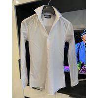 Рубашка мужская белая фирменная на очень стройного парня