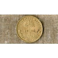 Британская Западная Африка 2 шиллинга 1938 / флора / пальма /(N)
