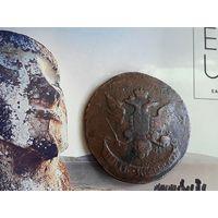 Монета Россия 5 копеек Павловский перечекан 1793