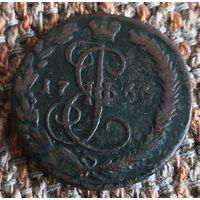 Деньга 1766 г  Россия