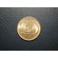 Чехословакия 20 геллеров 1990