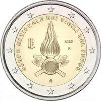 2 Евро Италия 2020 Национальный корпус пожарных Италии UNC из ролла