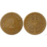 YS: Германия, Рейх, 2 пфеннига 1875E, KM# 2 (2)