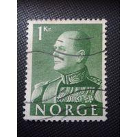 Норвегия. Олаф 5. 1955г. гашеная