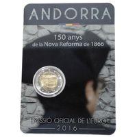 2016 Андорра - 2 Евро - 150 лет реформе BU