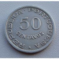 """Ангола. 50 сентаво 1948 год  KM#72 """"300 лет революции 1648 года"""""""