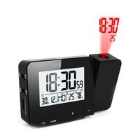 Стильные проекционные часы с температурой, влажностью, 2 будильниками, USB портом.