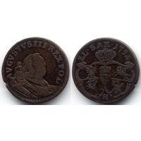 Грош 1754, Август III, Губин. Буква H на Рв. Коллекционное состояние