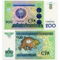 Узбекистан. 200 сум (образца 1997 года, P80, UNC) [серия AI]