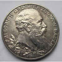 Германия, Баден, 5 марок, 1902, серебро