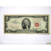 США 2 $ красная печать 1963 красная печать