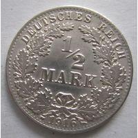 Германия. 1\2 марки 1916 A. Серебро . 107