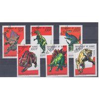 [799] Гвинея 1987.Фауна.Динозавры. Гашеная серия.
