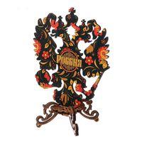 Герб России настольный, малый, натуральное дерево