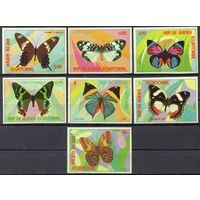 Бабочки Экваториальная Гвинея 1976 год чистая серия из 7 марок (М)