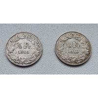 Швейцария 1/2 франка, 1910 7-6-17*18