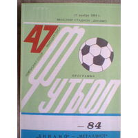 1984 год Динамо Минск--Металлист Харьков