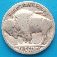 5 центов США Buffalo Nickel - без года