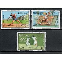 Лаос /1988/ Спорт / Олимпийские Игры Корея 1988 / Атлеты / Фехтование / 3 Марки