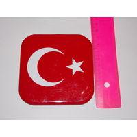 Турецкий флаг- подставка для чашки