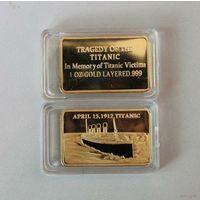 100 лет Трагедии Титаника слиток Proof