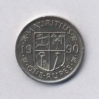 Маврикий, 1 рупия 1990 г.