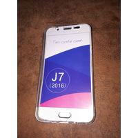 Новый двусторонний силиконовый чехол для Samsung J7 2016 года.