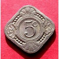 04-37 Антильские острова, 5 центов 1965 г.