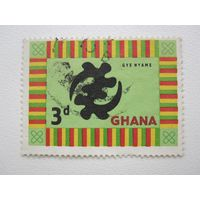 1961 National Symbols (Гана) 1 марка