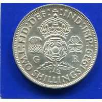 Великобритания 2 шиллинга (1 флорин) 1939,серебро, Georg VI. Лот 1. VF