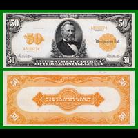 [КОПИЯ] США 50 долларов 1913г. Золотой Сертификат.