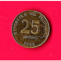 12-25 Филиппины, 25 сентимо 2000 г.